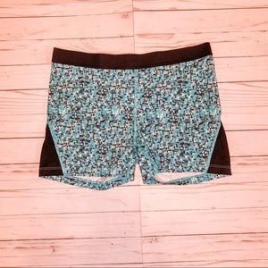 Be Inspired Green & Black Spandex Gym Shorts
